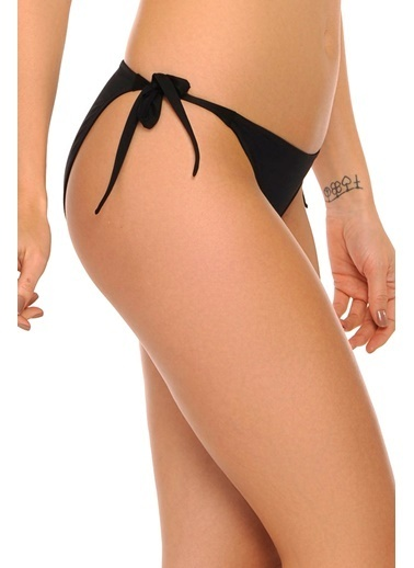 Reflections Mix Match Yandan Bağlamalı Düz Bikini Alt Siyah
